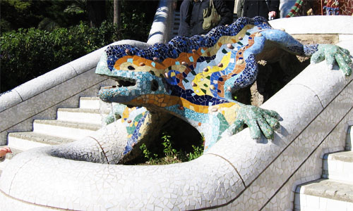 the Parc Guell